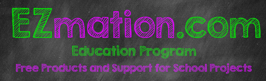 EZmation.com educational program.  Free and discounted products and support for school and open source projects.
